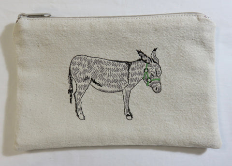 """Sidekick"" Embroidered Donkey  Wallet"