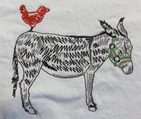 Child's Embroidered Donkey Apron