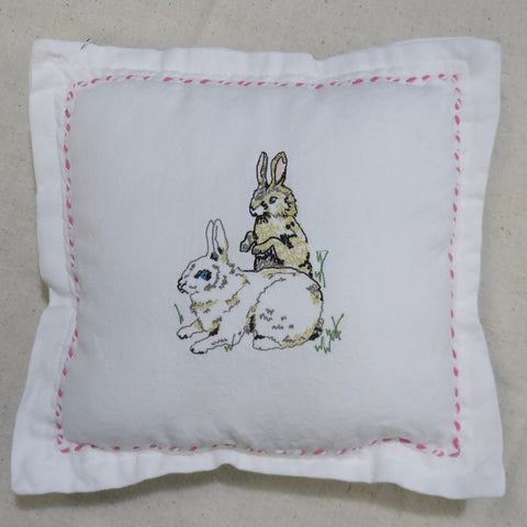 Bunnies Decorative Pillow-Pink