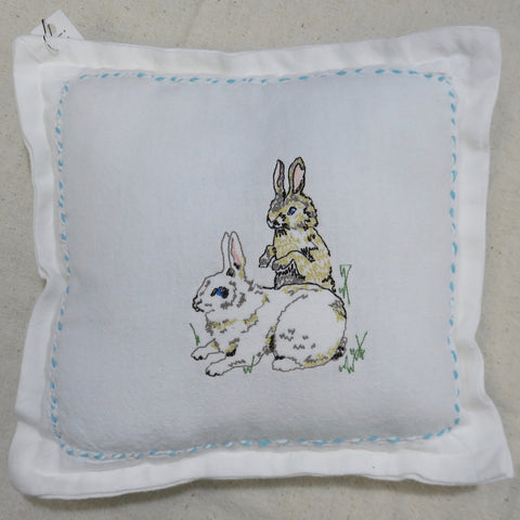 Bunnies Decorative Pillow-Blue