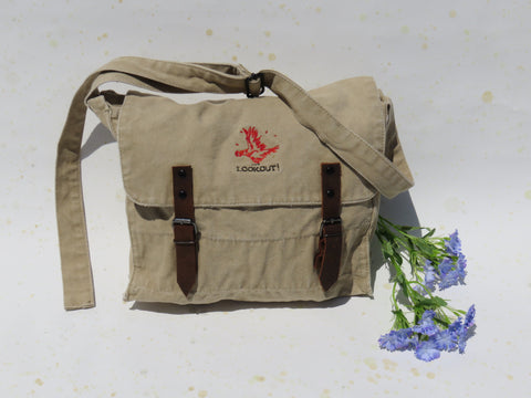 LOOKOUT! Embroidered Chicken Book Bag