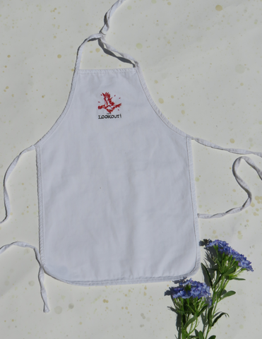 Child's LOOKOUT! Embriodered Chicken Apron