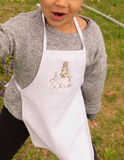 Child's Embroidered Bunny Apron