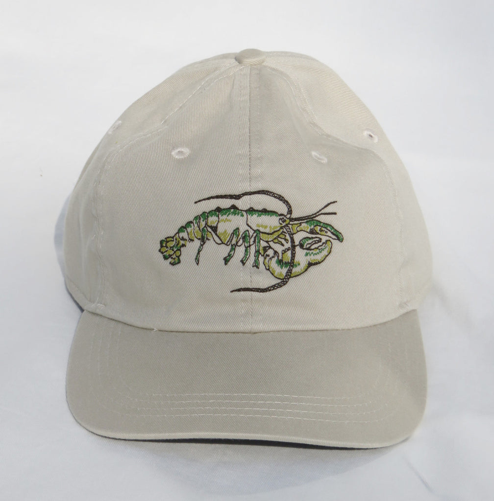 Embroidered Lobster Cap Green/Adult