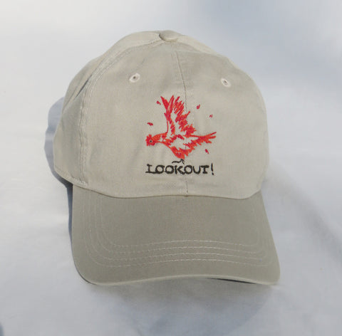 LOOKOUT! Embroidered Chicken Cap Adult/Tan