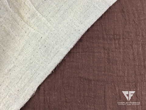Cosplay Fabrics Desert Robe Brown and Ivory