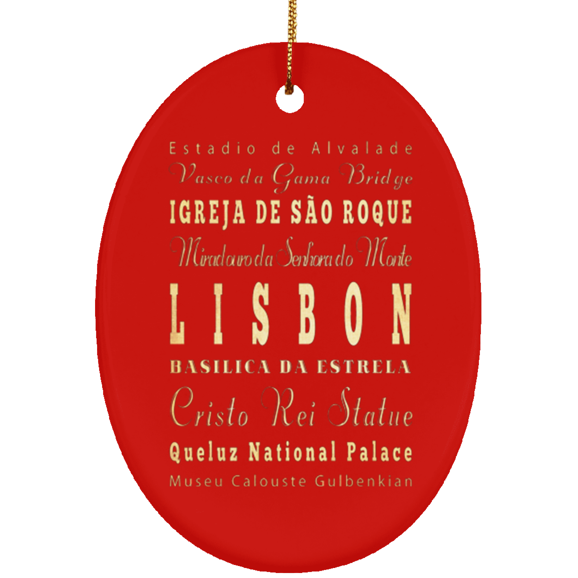Lisbon  Portugal Christmas Ornament LHA 254