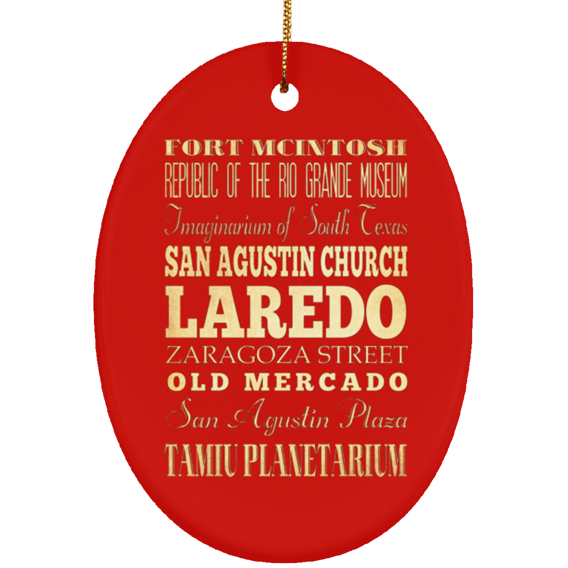 Laredo  Texas Christmas Ornament