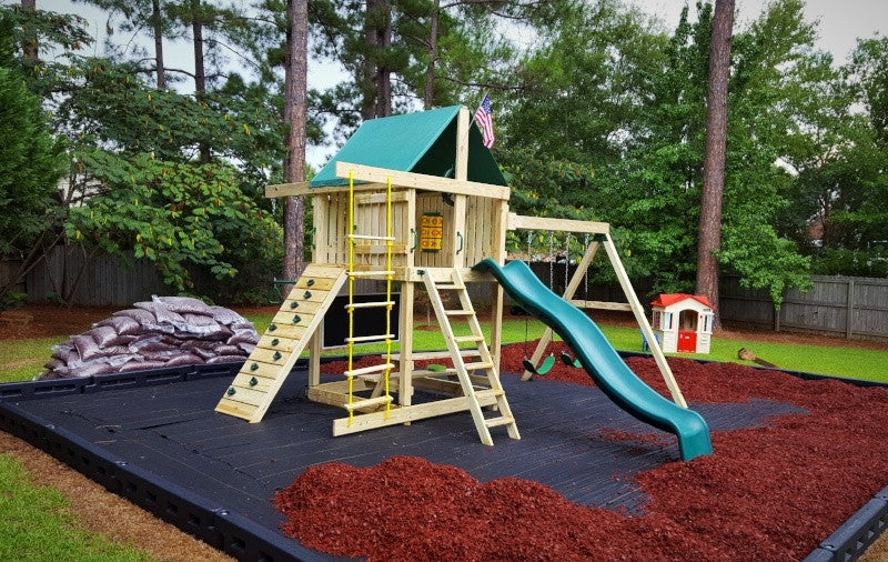 Swing Set Surface Material What To Put Under Your Playset
