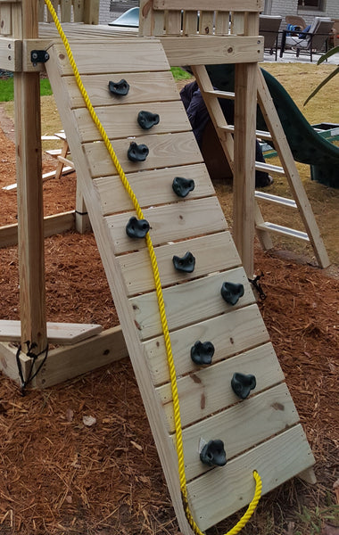 Wooden Climbing Wall Assembly