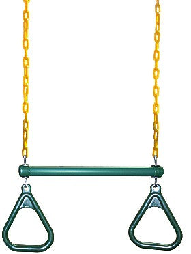 Trapeze Bar & Rings (Green)