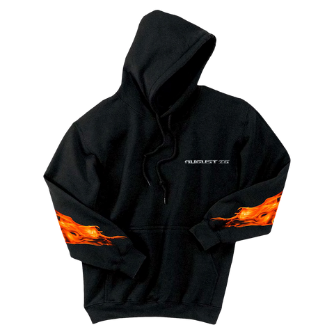 Post Malone August 26 Flames Hooded Sweatshirt