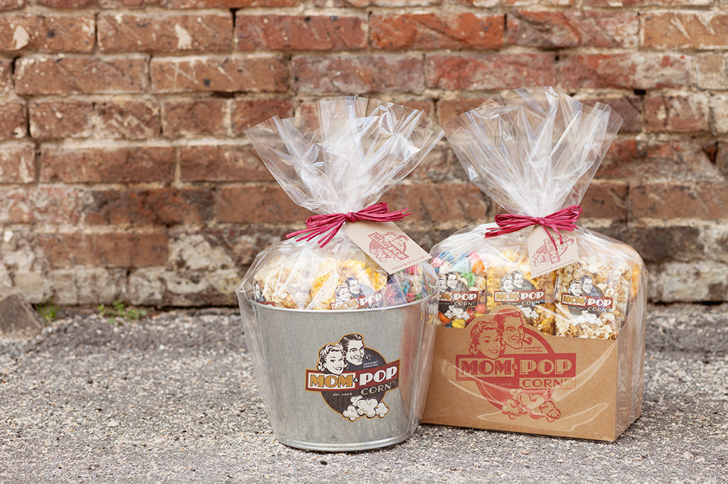Mom & Popcorn Gift Pail & Gift Box