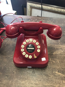 Red touch dial telephone