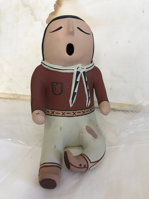 Cochiti Pueblo Pottery Figure signed