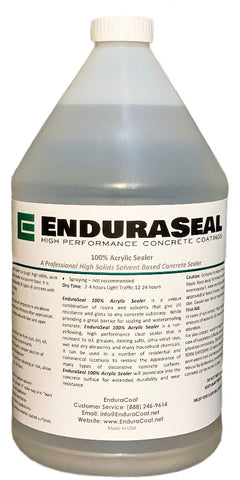 "EnduraSeal 100% Acrylic ""Wet Look"" Semi Gloss Concrete Solvent Sealer - 1 Gallon"