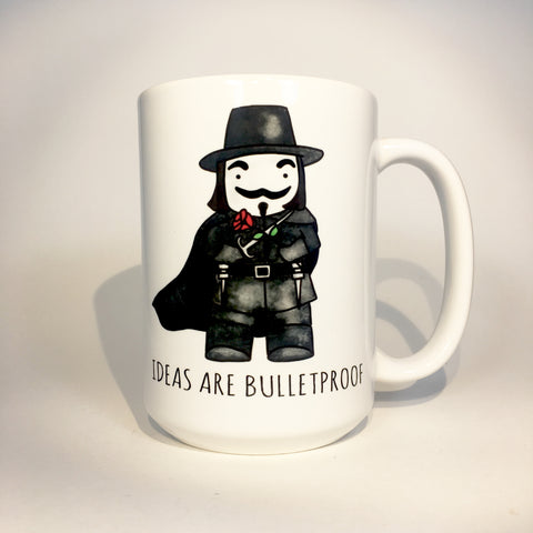 IDEAS ARE BULLETPROOF MUG