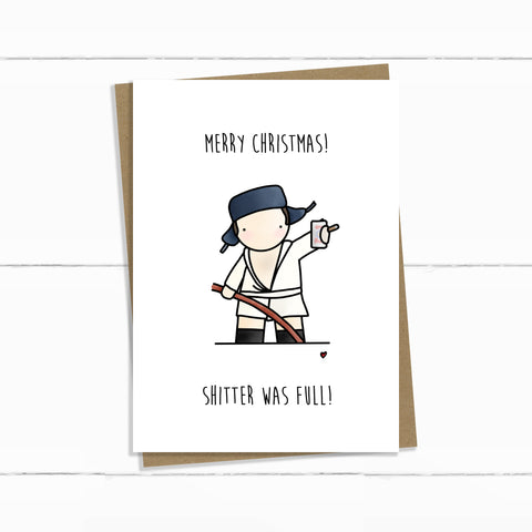 COUSIN EDDIE SHITTERS WAS FULL CHRISTMAS VACATION CARD