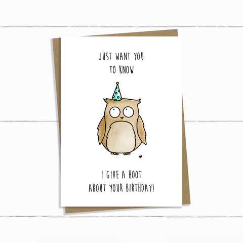 GIVE A HOOT BIRTHDAY