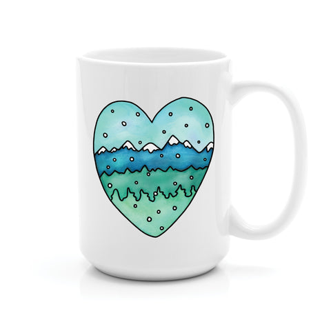 MOUNTAIN HEART MUG