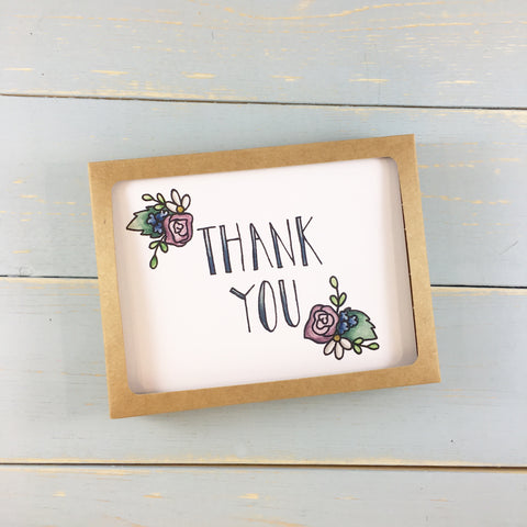 THANKS YOU FLOWERS NOTE CARD SET OF 6