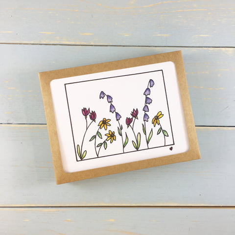 WILDFLOWERS NOTE CARD SET OF 6