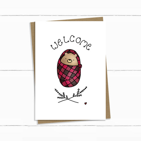 welcome plaid bundled baby