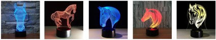 Veilleuse Cheval 3D Laser Led multicolore