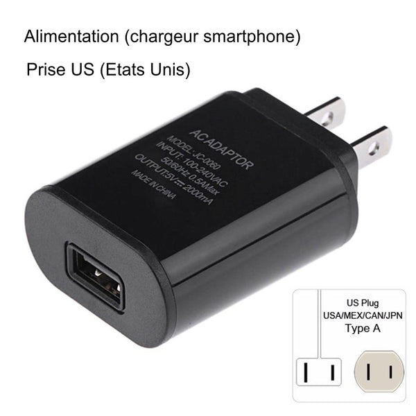 Alimentation Chargeur smartphone USB_US
