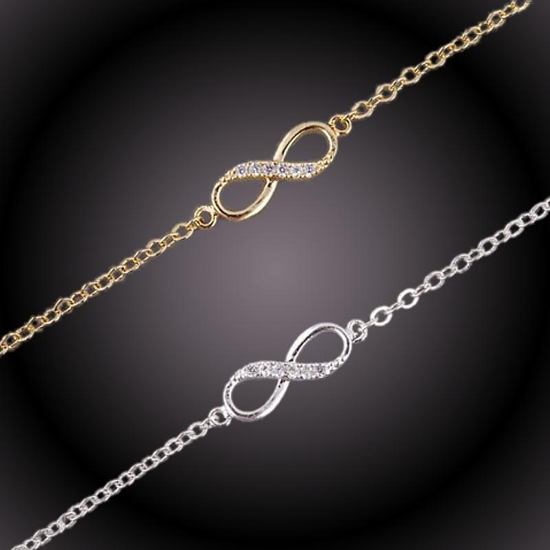 Bracelet et Collier - Infini - Or & Brillants - jaune ou blanc