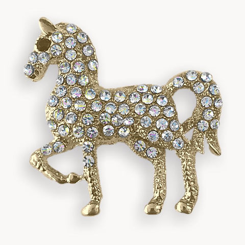 Broche Cheval & Brillants