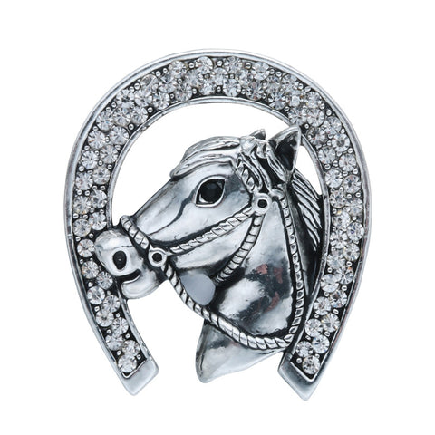 Broche Fer à Cheval & Brillants