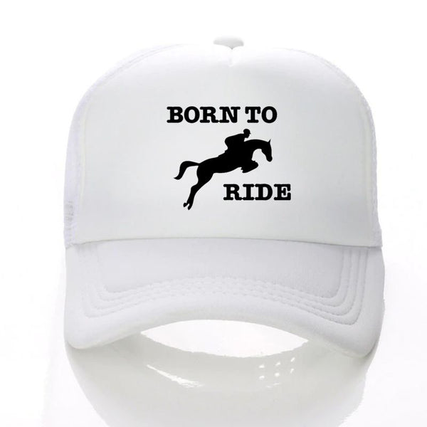 Casquette Baseball imprimé cheval BORN TO RIDE