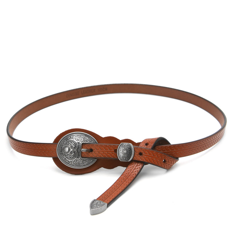 Ceinture femme Cuir Boucle mode Country