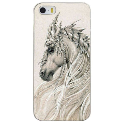 Coque Protection iPhone Cheval Féerie pour iPhone 4, 5, 6, 6 plus, 7, 7 Plus, 8, 8 Plus