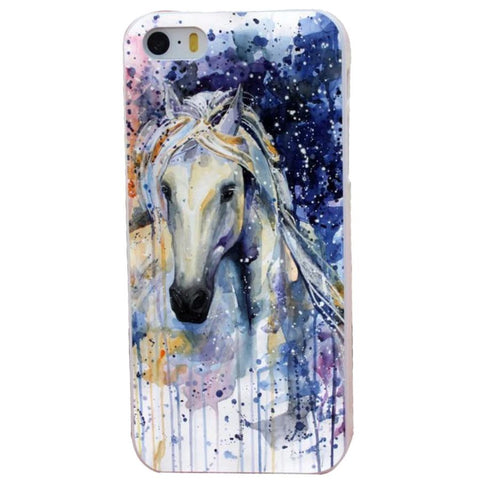 Coque de protection iPhone Cheval Aquarelle féerie pour iPhone 4, 5, 6, 7