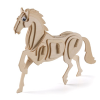 Figurine cheval de bois en kit à monter