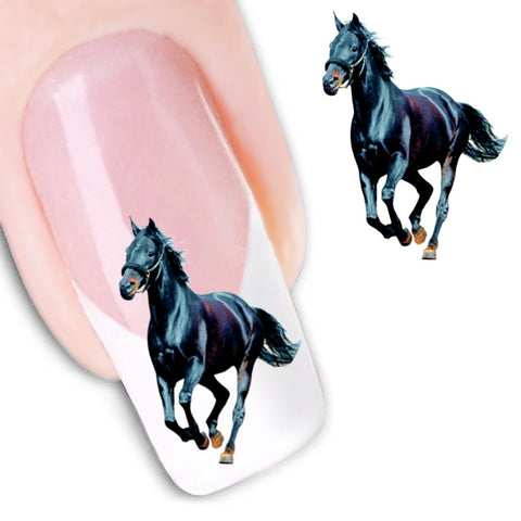 Stickers transfert chevaux pour ongles