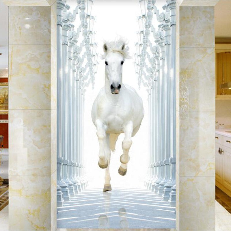Beautiful poster mural cheval contemporary joshkrajcik for Poster de porte cheval