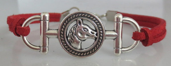 Bracelet fashion mors écusson cheval