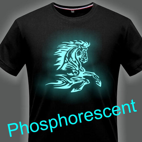 T-Shirt - Impression Cheval Celte - Encre phosphorescente