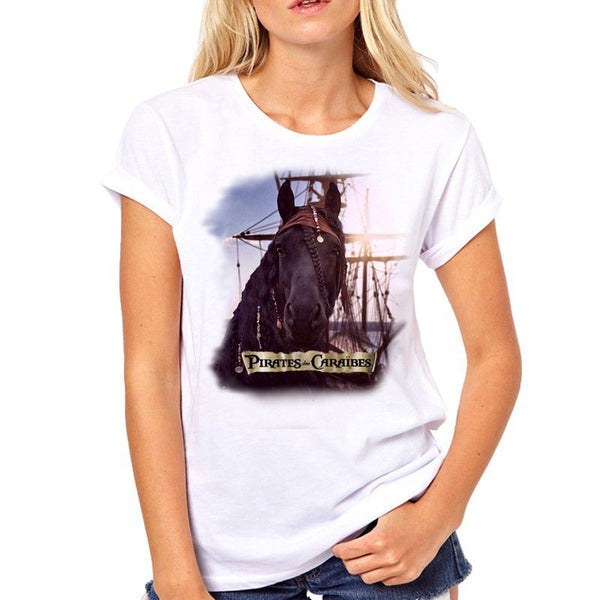 T-Shirt - Impression Cheval Pirates des Caraïbes