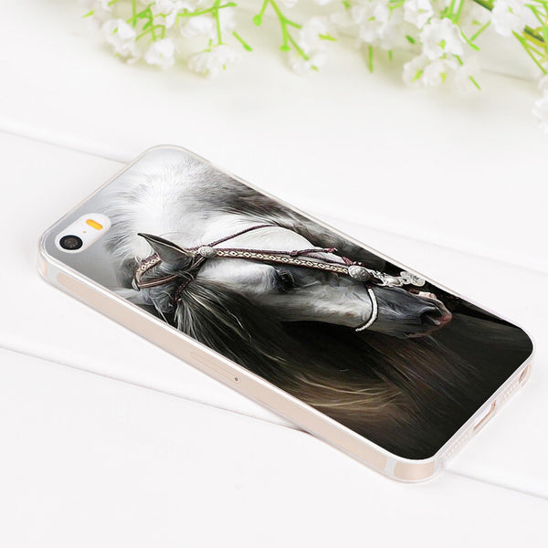 Coque de protection image cheval pour iPhone 4, 5, 6, 6+, 7, 7+