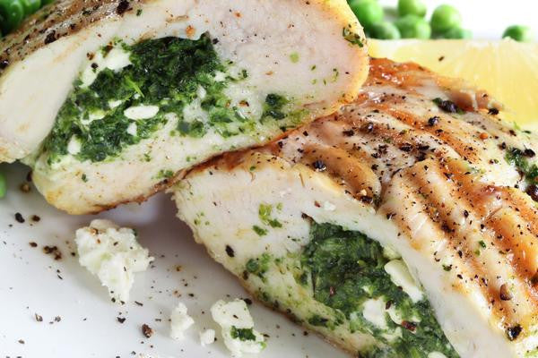 Stuffed Chicken Breasts with Spinach and Feta