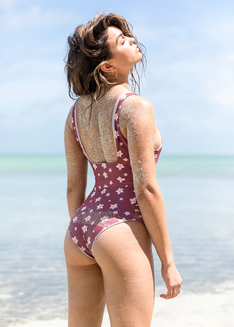 NIRVANIC SWIM:2018 EZEL ONE PIECE-EXTRA SMALL / PLUMERIA CLAY