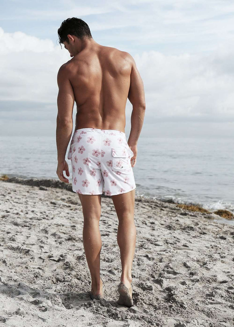 NIRVANIC SWIM:RIKI TRUNK-SMALL / HIBISCUS