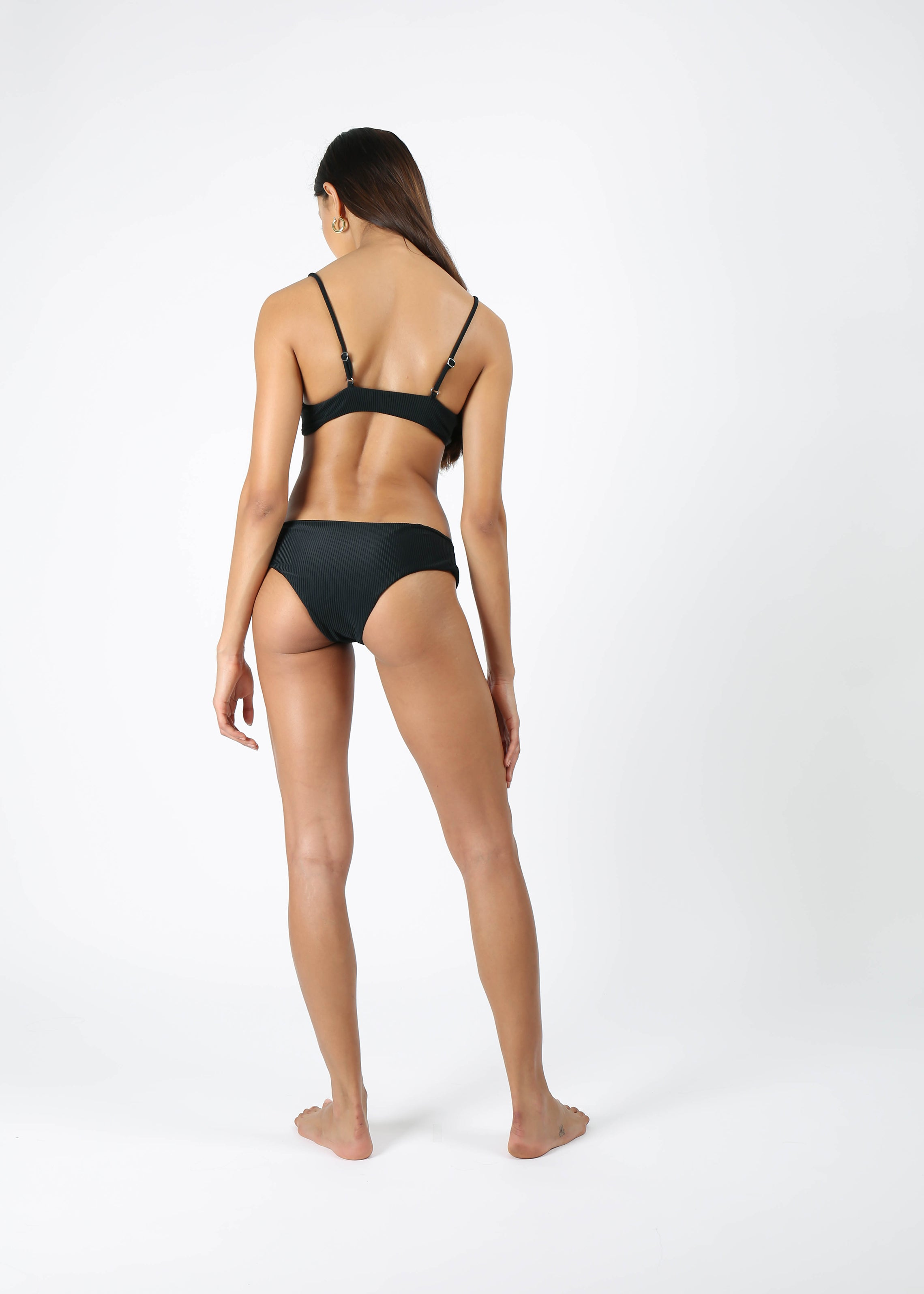 Lulu Bottom - Ribbed Black
