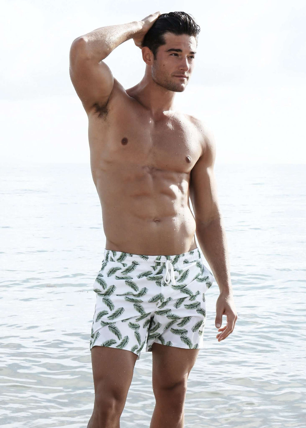 NIRVANIC SWIM:RIKI TRUNK-SMALL / PALM