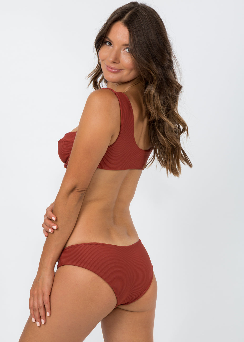 Maia Top - Ribbed Picante