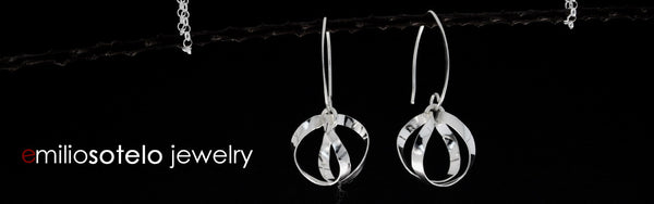 HIGH POLISHED SILVER EARRINGS